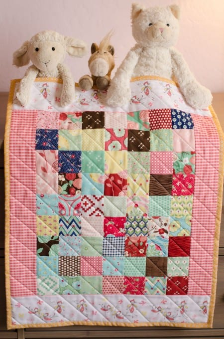 Doll Quilt with Moda Charm Squares