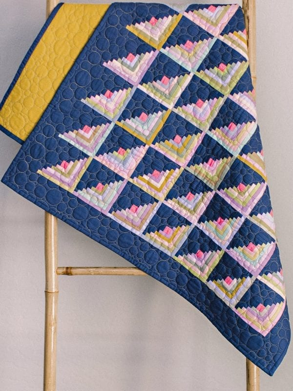 small log cabin quilt