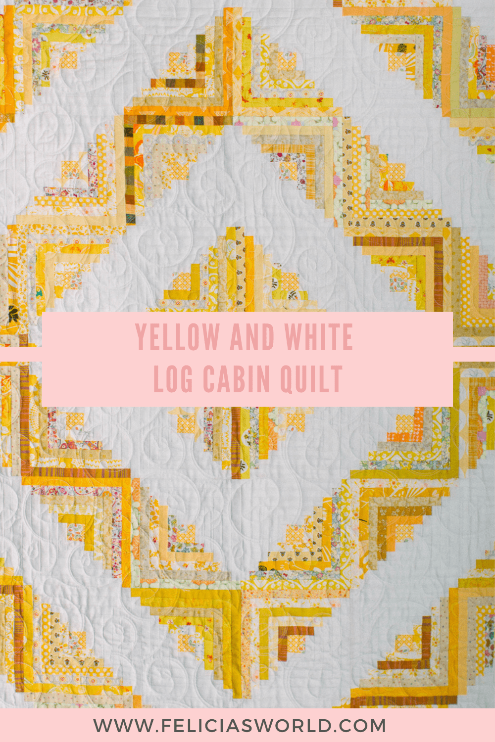 yellow and white quilt