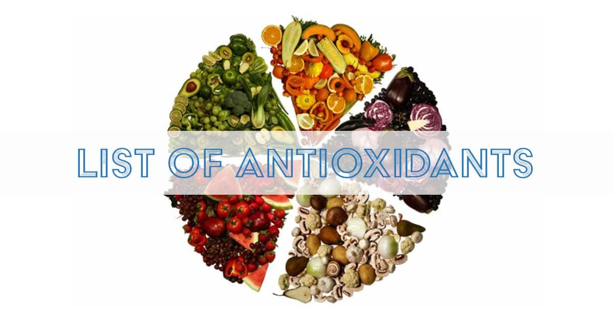 List of Antioxidants
